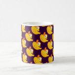 Pato de goma amarillo taza
