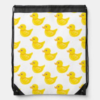 Pato de goma amarillo y blanco, Ducky Mochilas