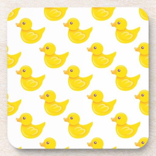 Pato de goma amarillo y blanco, Ducky Posavaso