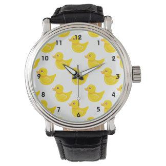Pato de goma amarillo y blanco, Ducky Relojes