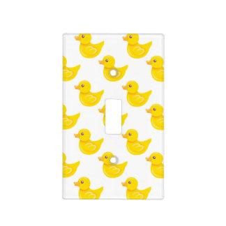 Pato de goma amarillo y blanco, Ducky Tapas Para Interruptores
