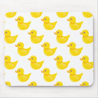 Pato de goma amarillo y blanco, Ducky Alfombrilla De Ratón
