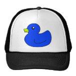 Pato de goma azul gorra
