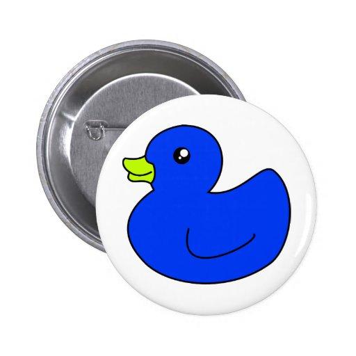 Pato de goma azul pin