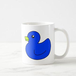 Pato de goma azul tazas de café