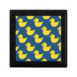 Pato de goma azul y amarillo, Ducky Caja De Recuerdo