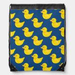 Pato de goma azul y amarillo, Ducky Mochila