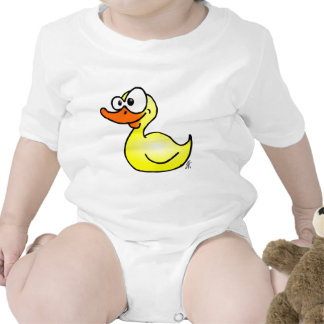 Pato de goma traje de bebé