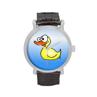 Pato de goma reloj de mano