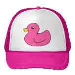 Pato de goma rosado gorros