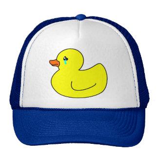 Pato de goma triste gorras de camionero