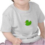 Pato de goma verde camisetas