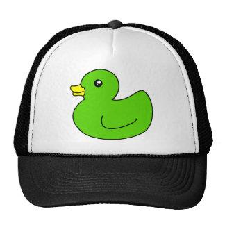 Pato de goma verde gorro
