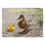 Pato de goma y pato de la madre felicitacion