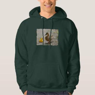 Pato de goma y pato de la madre jersey encapuchado