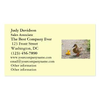 Pato de goma y pato de la madre tarjetas de visita