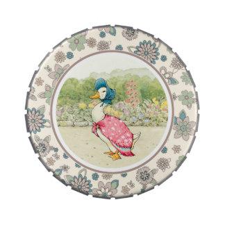 Pato de Jemima de Beatrix Potter. Latas del carame Frascos De Dulces