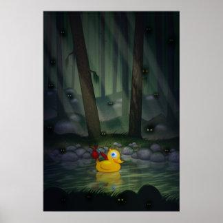 Pato de la aventura en el bosque oscuro póster