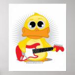 Pato de la guitarra eléctrica posters