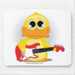 Pato de la guitarra eléctrica tapetes de ratones