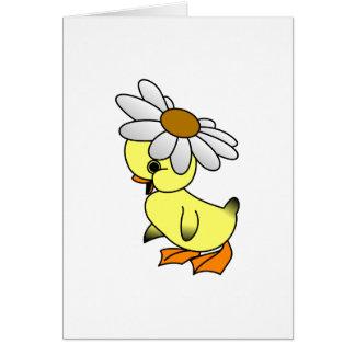 Pato de la margarita tarjeta de felicitación