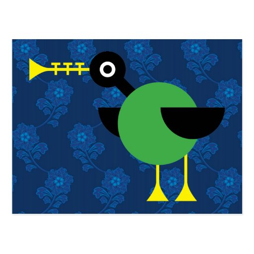 Pato de la trompeta tarjetas postales