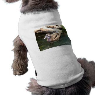 Pato de madera femenino camisas de mascota