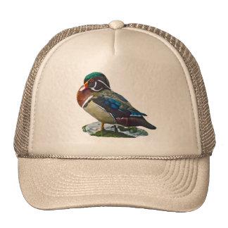 Pato de madera gorras de camionero