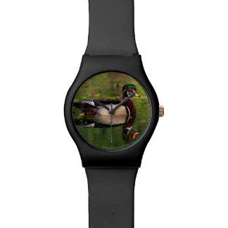 Pato de madera reloj