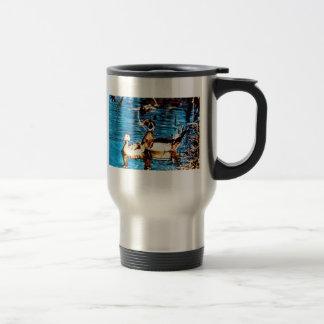 Pato de madera tazas de café