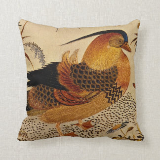Pato de mandarín cojín decorativo
