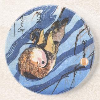 Pato de mandarín, Hiroshige Posavasos Para Bebidas