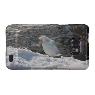 pato de Muscovy blanco en la nieve Samsung Galaxy SII Carcasa