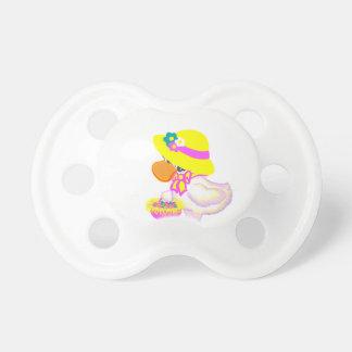 Pato de Pascua con el capo y la cesta de huevos Chupetes De Bebe