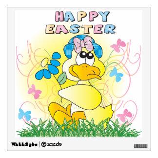 Pato de Pascua del tiempo de primavera Vinilo Adhesivo