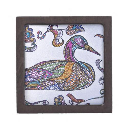 Pato decorativo cajas de joyas de calidad