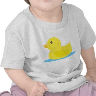 Pato del amarillo del tiempo del baño camisetas