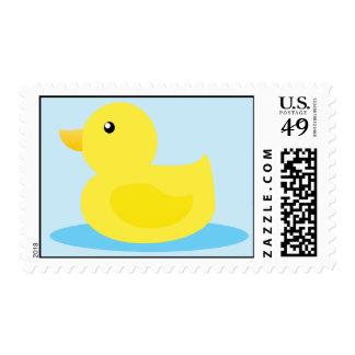 Pato del amarillo del tiempo del baño sellos