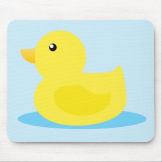 Pato del amarillo del tiempo del baño alfombrilla de ratón