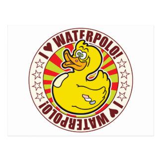 Pato del amor de Waterpolo Tarjeta Postal