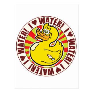 Pato del amor del agua postales