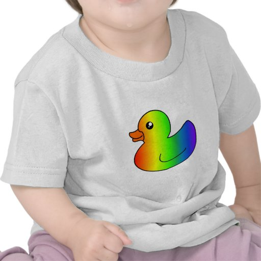 Pato del caucho del arco iris camisetas