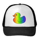 Pato del caucho del arco iris gorro