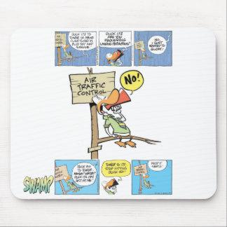Pato del controlador aéreo alfombrillas de raton