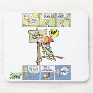 Pato del controlador aéreo alfombrillas de ratón