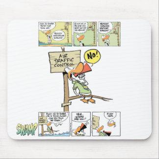 Pato del controlador aéreo alfombrilla de ratón