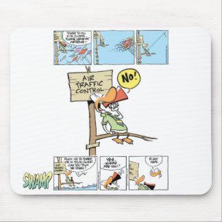 Pato del controlador aéreo tapete de raton
