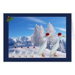 Pato del corredor del navidad tarjetas