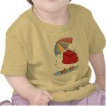 Pato del día lluvioso camisetas