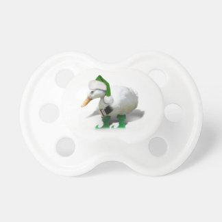 Pato del duende del navidad - el ayudante de Santa Chupete De Bebe